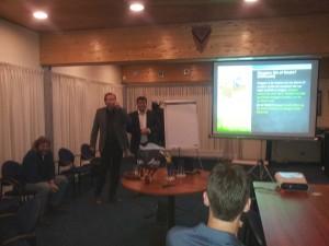 Arjan Samson & Henk Andy tijdens seminar Leeuwarden